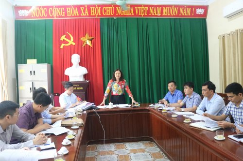 đồng chí Đỗ Thị Bảy - Phó Chủ tịch HĐND thành phố, trưởng đoàn công tác của thành phố giám sát công tác bầu cử Quốc hội khóa XV và HĐND các cấp nhiệm kỳ 2021 - 2026 tại phường Quảng Đông.jpg